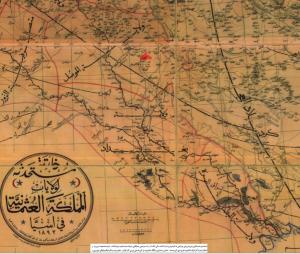 خريطة العراق العثماني لعام 1893. المصدر: مشاع ويكيبيديا