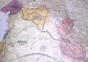 خريطة لورنس، 1918. المصدر: